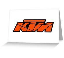 KTM - Orange on Black Greeting Card