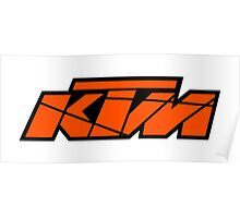 KTM - Orange on Black Poster