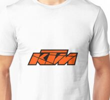 KTM - Orange on Black Unisex T-Shirt