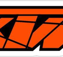 KTM - Orange on Black Sticker