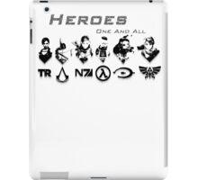 Heroes Headshots Landscape with Logos (Dark) iPad Case/Skin