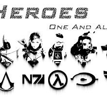 Heroes Headshots Landscape with Logos (Dark) by IS0metric