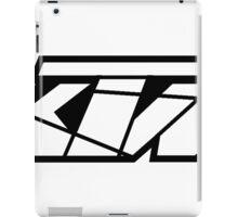 KTM - White on Black iPad Case/Skin