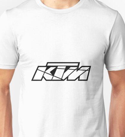 KTM - White on Black Unisex T-Shirt