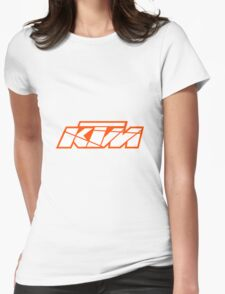 KTM - White on Orange Womens Fitted T-Shirt