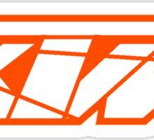 KTM - White on Orange Sticker