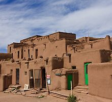 Taos Pueblo (Color Version), Taos, New Mexico by Tomas Abreu