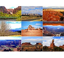 Collage of Utah Landscape Icons Photographic Print