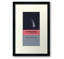mary poppins quote Framed Print