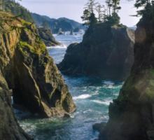 Natural Bridges Cove, Samuel H Boardman State Park, Curry County, Oregon, USA Sticker