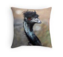 Emu, Melbourne Zoo Throw Pillow