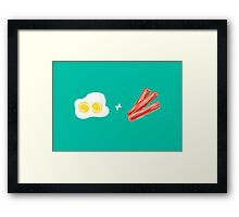 Eggs and Bacon Framed Print