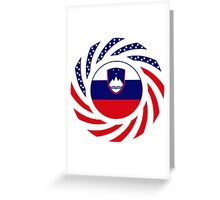 Slovenian American Multinational Patriot Flag Series Greeting Card
