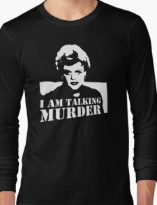 stencil Murder She Wrote Deadly Lady Long Sleeve T-Shirt