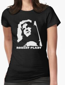 stencil Robert Plant Womens Fitted T-Shirt