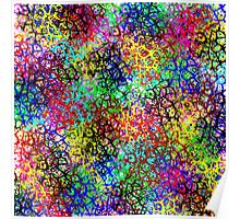 Colorful Textured Abstract Poster