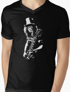 stencil Slash Guns N Roses Rock Band Mens V-Neck T-Shirt