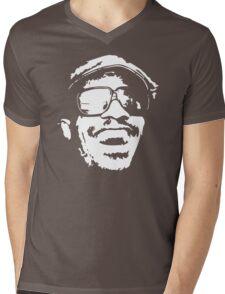 stencil Stevie Wonder Mens V-Neck T-Shirt