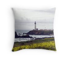 Coast Lighthouse Throw Pillow
