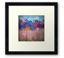 Colorful Trees and Landscape Framed Print