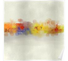 Colorful Tree Landscape in Abstract Poster