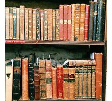 Antique Book Bindings Photographic Print