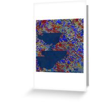 Coming of the Canvas in Blues Greeting Card