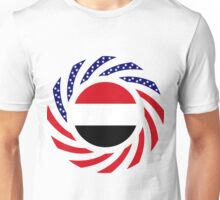 Yemeni American Multinational Patriot Flag Series Unisex T-Shirt