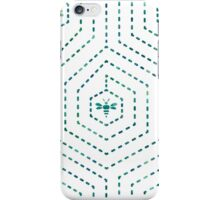 Honeycomb Home in White iPhone Case/Skin