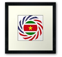 Surinamese American Multinational Patriot Flag Series Framed Print