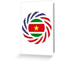Surinamese American Multinational Patriot Flag Series Greeting Card