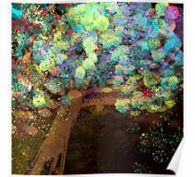 Colorful Confetti Tree Abstract Poster