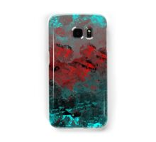 Cool Aqua and Red Abstract Samsung Galaxy Case/Skin