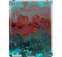 Cool Aqua and Red Abstract iPad Case/Skin