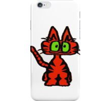 Dark Orange Tiger Cat iPhone Case/Skin