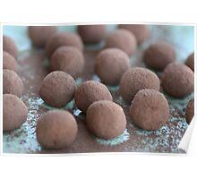 Chocolate Coffee Truffles Poster