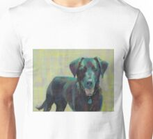 Black Lab painting created by Lindblad Studios Unisex T-Shirt