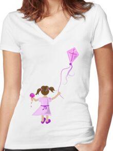 Icecream Delight Women's Fitted V-Neck T-Shirt