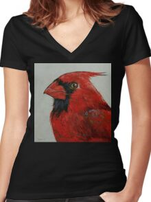 Cardinal Women's Fitted V-Neck T-Shirt
