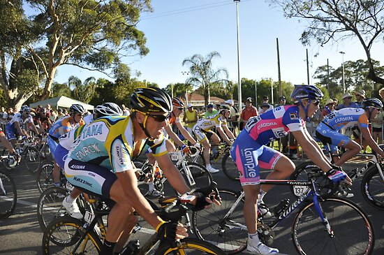 Lance Armstrong, Tour Down Under 2009. by Cathy Grieve