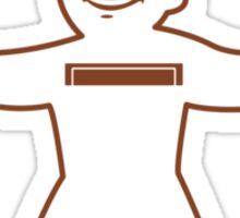Vault Boy - T-Shirt/Sticker (Dark Red) Sticker