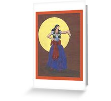 Manouche Madchen Greeting Card