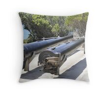Gun Barrels Throw Pillow