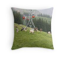 Mt Pilatus, Switzerland Throw Pillow