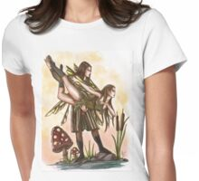 Faeries Take Flight Couples Dance Womens Fitted T-Shirt