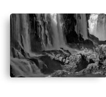 Iguazu Falls in Monochrome Canvas Print
