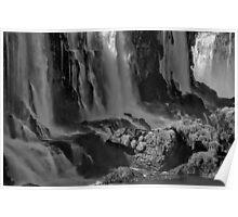 Iguazu Falls in Monochrome Poster