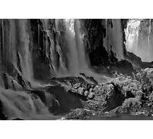 Iguazu Falls in Monochrome Photographic Print