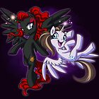 Mad T Ponies - Red Queen and White Queen by CherryGarcia