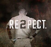 New York Yankee Derek Jeter Respect Print by Joann Vitali